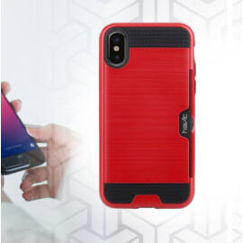 HAVIT iPhone X telefontok beépített kártyatartóval H820