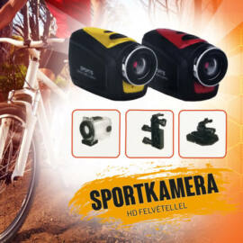 Sportkamera HD felvétellel