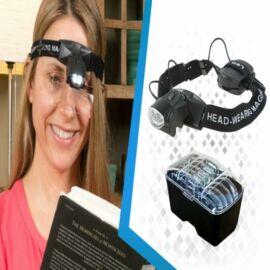 Olvasószemüveg 2LED-es világítással