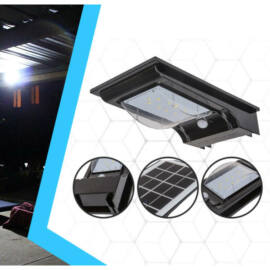 Falra szerelhető ledes solar lámpa