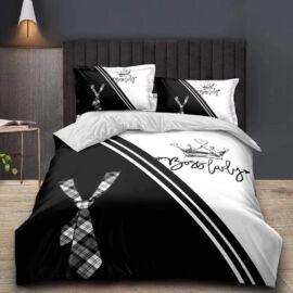7 részes Color ágynemű garnitúra - fekete, nyakkendő