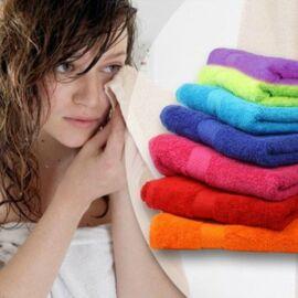 7 részes pamut törölköző szett - 3 különböző méret vidám színek