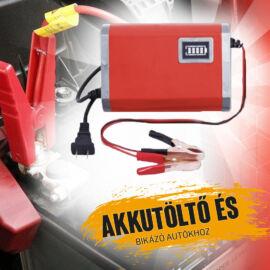 STRAUS 150W 12V Inverteres Hordozható Akkumulátortöltő 10A ST/CA-10IV