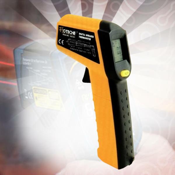 Hoteche Lézeres infra hőmérő pisztoly -38 +520°C digitális LCD kijelzővel