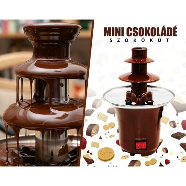 Mini csokoládé szökőkút