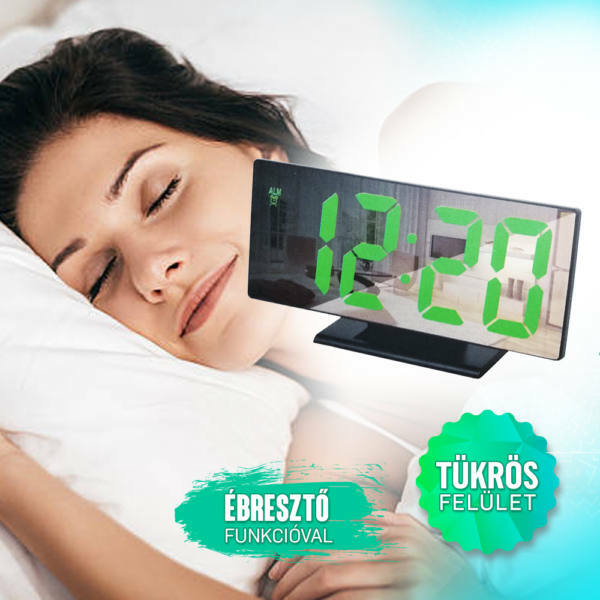 Digitális ébresztőóra,tükröződő felülettel DS3618L