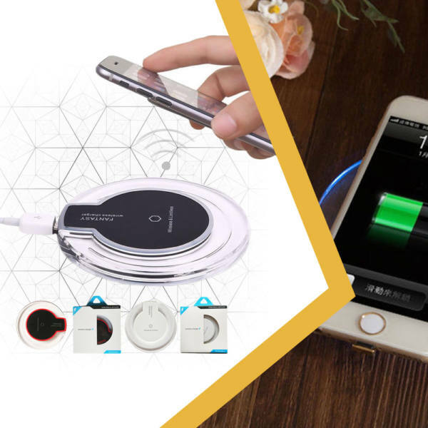 Qi vezeték nélküli töltő (microusb adapterrel)