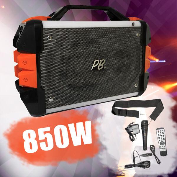 PowerBase Stronger 850W bluetooth akkus karaoke hangfal PBPS-0306