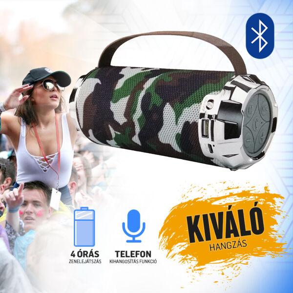 Bluetooth hangszóró, elemlámpa funkcióval AK116