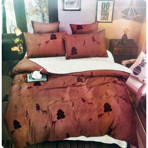 7 részes Nicole prémium ágyneműhuzat garnitúra - barna