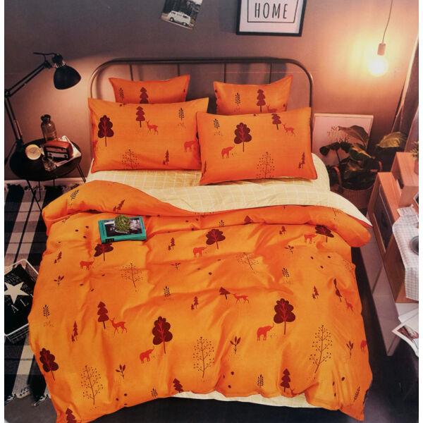 7 részes Nicole prémium ágyneműhuzat garnitúra - narancssárga